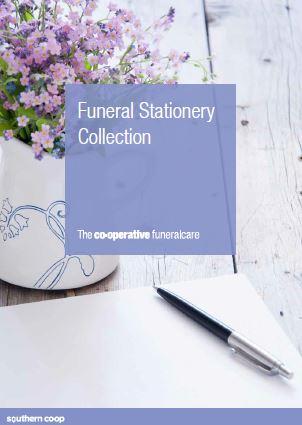 funeral stationery brochure - J Edwards